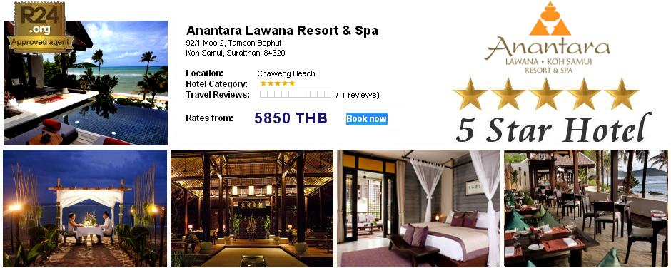 Photo: 5 Star Hotel Anantara Lawana Resort / Koh Samui /     Thailand